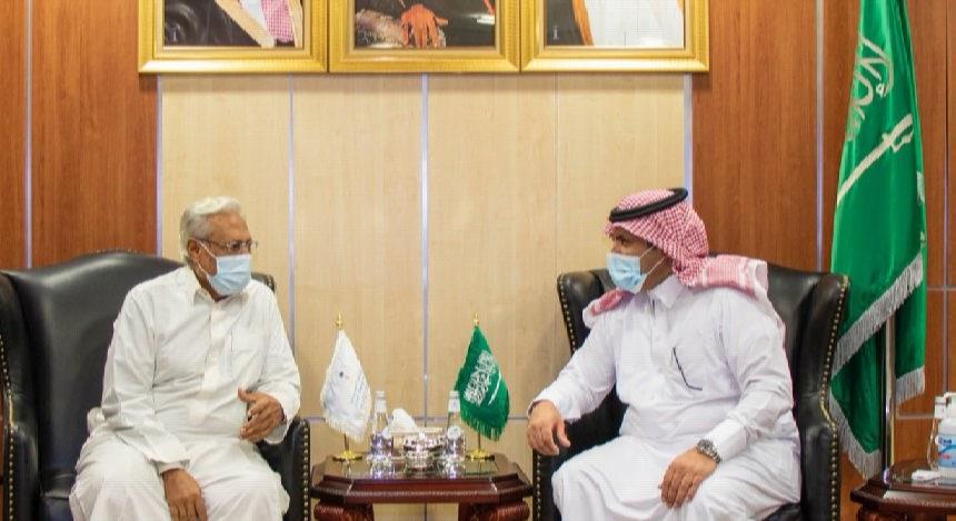 سفير السعودية مع مدير أمن عدن الجديد أحمد الحامدي