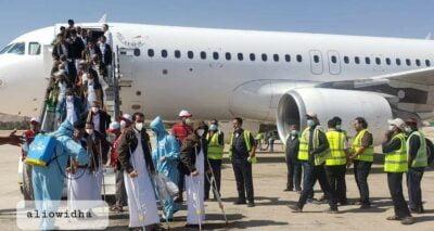 وصول أسرى ومختطفين مفرج عنهم من الحوثيين بحالة صحية متدهورة