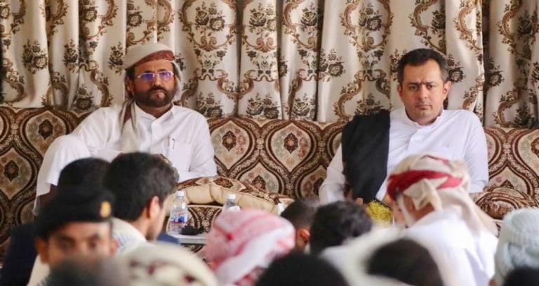 معين عبدالملك مع محافظ مأرب سلطان العرادة