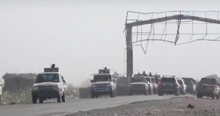 فتح الخط الدولي في أبين بعد انسحاب قوات الشرعية والانتقالي