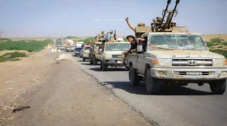 انسحاب قوات الانتقالي من أبين بإشراف التحالف