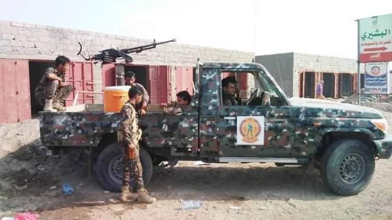 قوات الأمن في مديرية المخا غرب تعز
