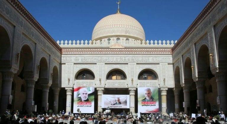 حفل إيران في جامع الصالح بذكرى مقتل سليماني