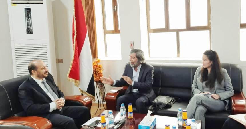الوزير العوج لمكتب المبعوث الأممي: يجب تحييد قطاع الاتصالات في اليمن
