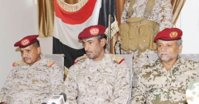رئيس الأركان في استقبال القوات المشتركة: أحرار اليمن بخندق واحد