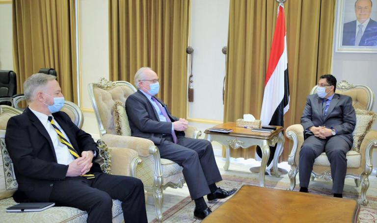 التصعيد والسلام محور لقاءين منفصلين لبن مبارك بالمبعوثين الأمريكي والأممي