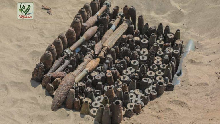شبوة: إتلاف 8500 من ألغام الحوثيين وقذائف مخلفات الحرب