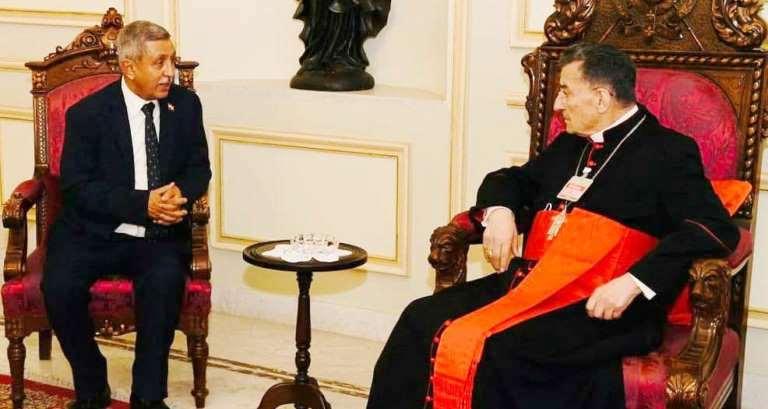 سفير اليمن في بيروت الدعيس يلتقي البطريك الماروني الراعي