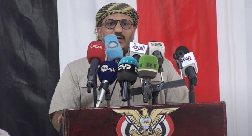 فيديو – طارق صالح بتدشين المكتب السياسي: نمد يدنا إلى الشرعية