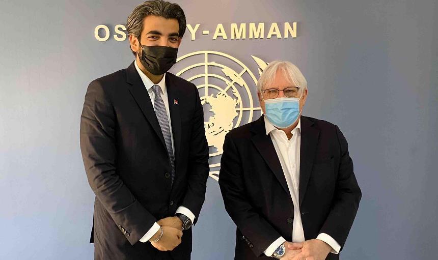 غريفيث يناقش خطته للسلام في اليمن مع عمرو البيض