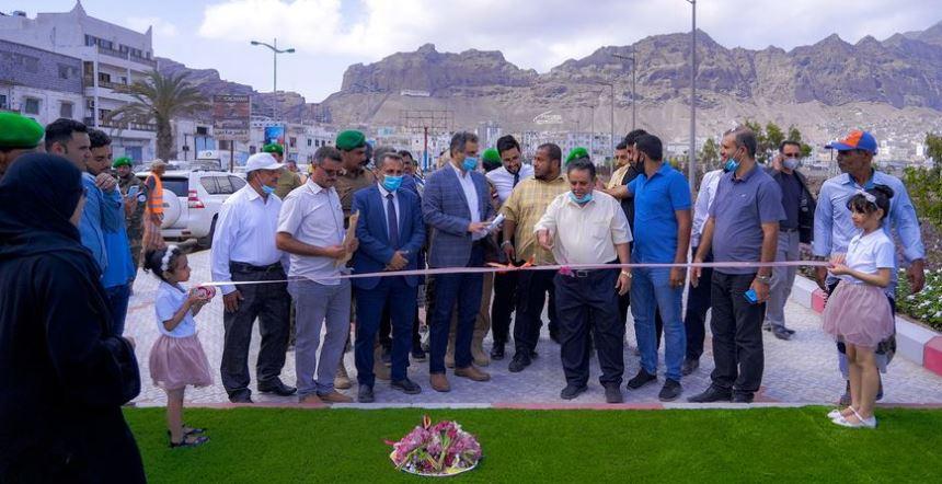 محافظ عدن يفتتح حدائق في المعلا ويقر ترتيبات رمضان