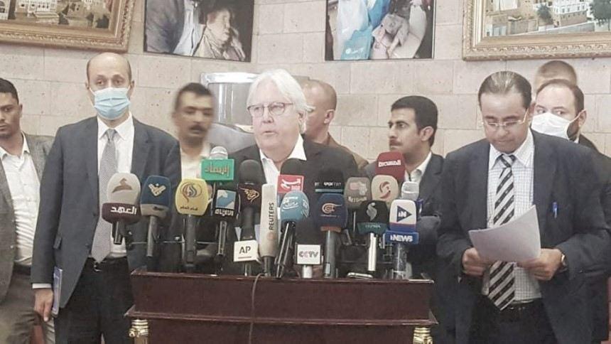 الموقف الأممي ولقاء الحوثي ومفاوضات مسقط.. نص تصريحات غريفيث من صنعاء