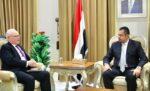 معين عبدالملك في لقاء مع المبعوث الأمريكي تيم ليندركينغ